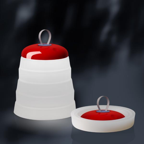 Cri Cri Battery table lamp, red