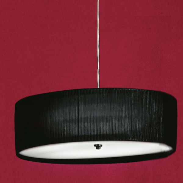 Discovolante E27 D40 Pleated Fabric pendant lamp