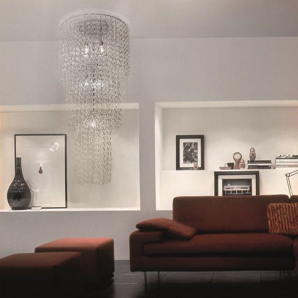 Minigiogali PL CA3 Ceiling fixture, crystal clear