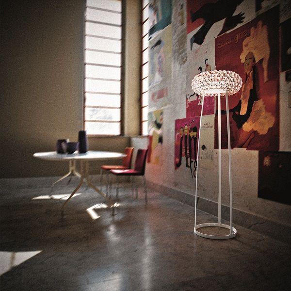 Caboche media floor lamp transparent