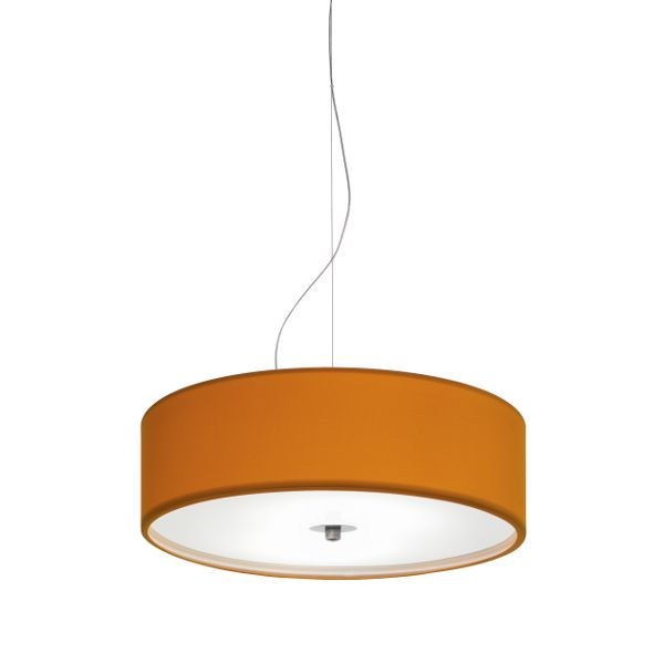 Discovolante E27 Cotton Polyester D40 Pendant light, orange