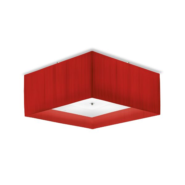 Quadrato Ceiling Light RED
