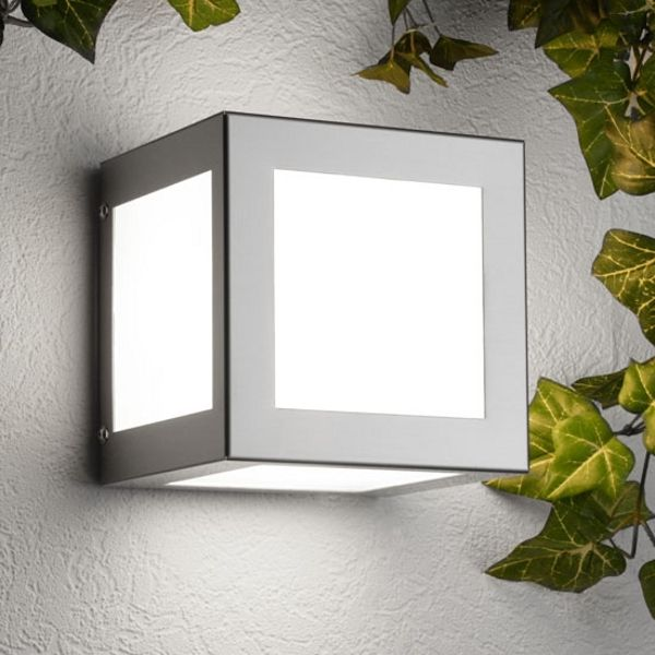 Aqua Cubo wall lamp stainless steel