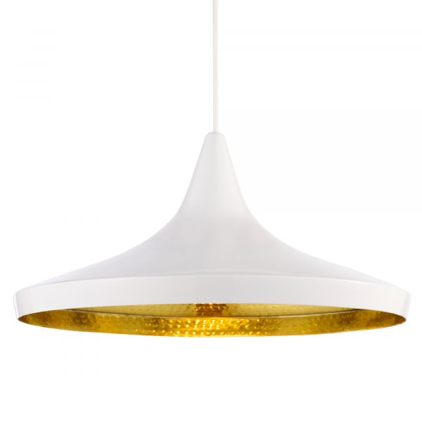 Beat Wide pendant light white