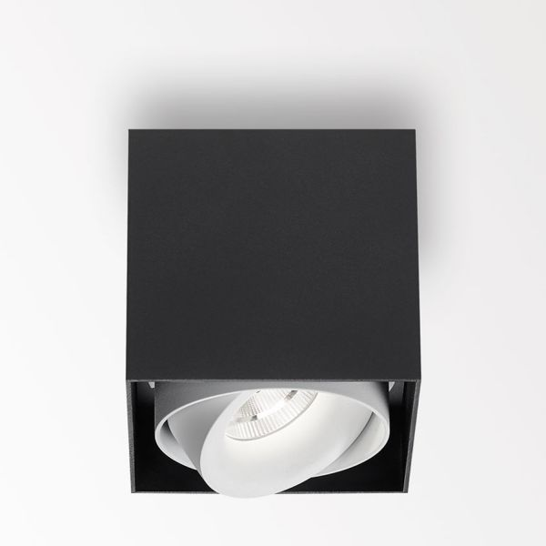 Deltalight, Minigrid on 1 Box dimmable ceiling-mounted luminaire, color black+white