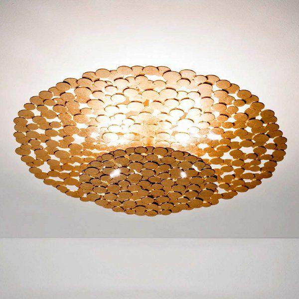 A gold Tresor ceiling light