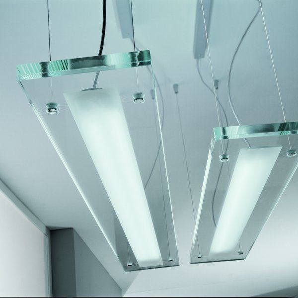 Both sizes of the Plana Plus pendant light in detail