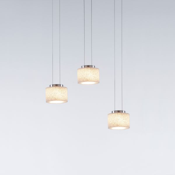 Reef LED pendant light with canopy track for three pendants