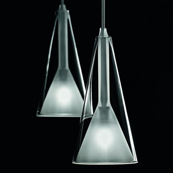 Two lampshades of the Lolli S3L pendant light in detail