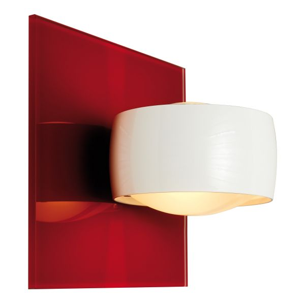 Grace Unlimited LED wall sconce, red / white