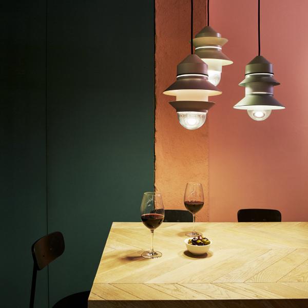 Santorini Indoor pendant lights in use