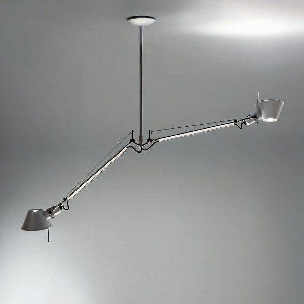 The Tolomeo sospensione due bracci alluminio pendant light