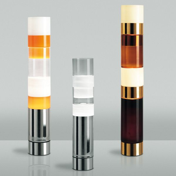 Stacking A, B and D Floor lamp (from left to right)