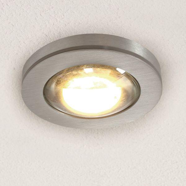Vio recessed light, clear lens, aluminium