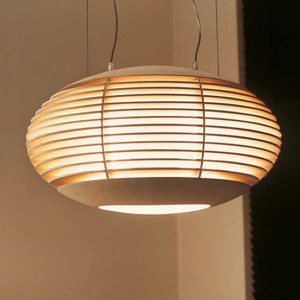 The Tocco oval pendant light in pale oak