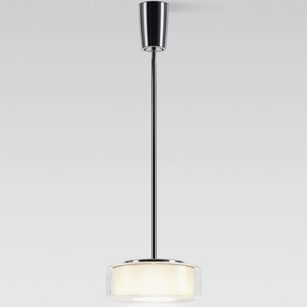 Curling Tube clear / cylindric opal LED pendant light
