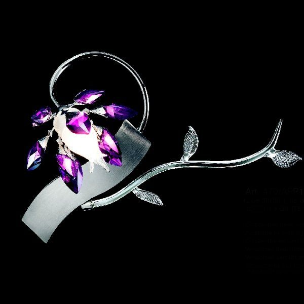 The Boccioli 0470/APP1 wall sconce purple chrome