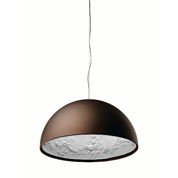 Skygarden suspension lamp in rubiginous/matt