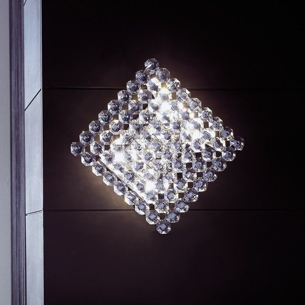 Topazio 27x27 wall and ceiling lamp crystal