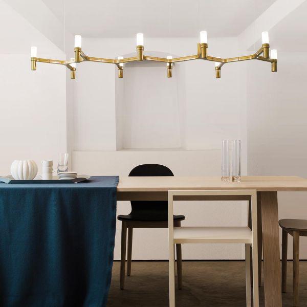 Crown Plana Linea Pendant Light gold