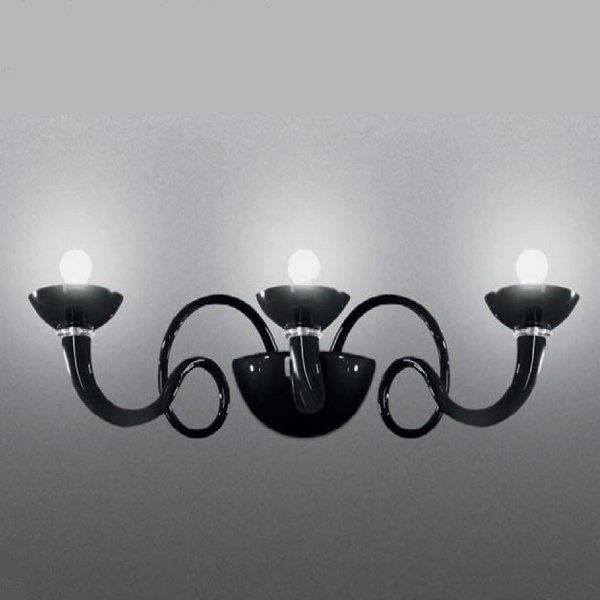 A black Pantalica parete 3 wall sconce (sold out)