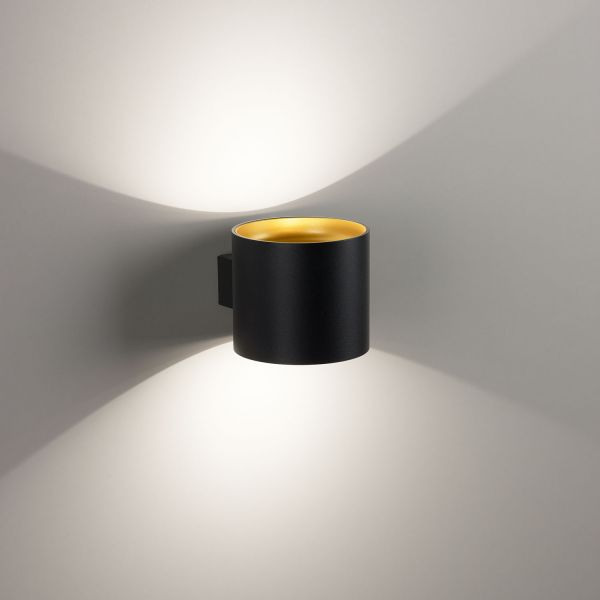 Deltalight, Orbit dimmable wall light, colors gold + black