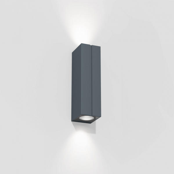 Cut outdoor wall sconce, anthracite