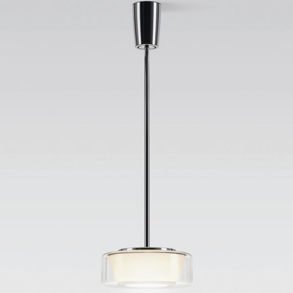 Curling Tube clear / conical opal LED pendant light