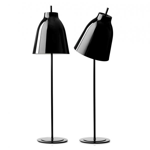 Caravaggio floor light glossy black