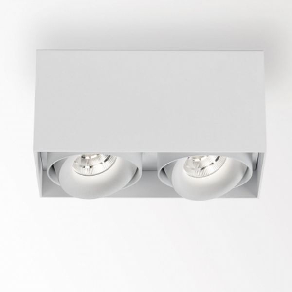 Deltalight, Minigrid on 2 Box dimmable ceiling light, color white + white
