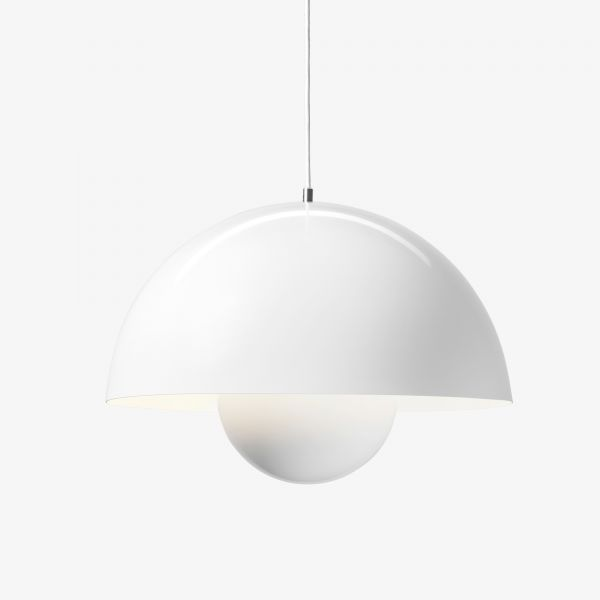 Flowerpot VP2 pendant light, white