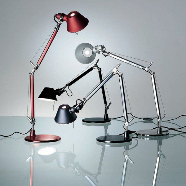 Tolomeo micro table lights with table base