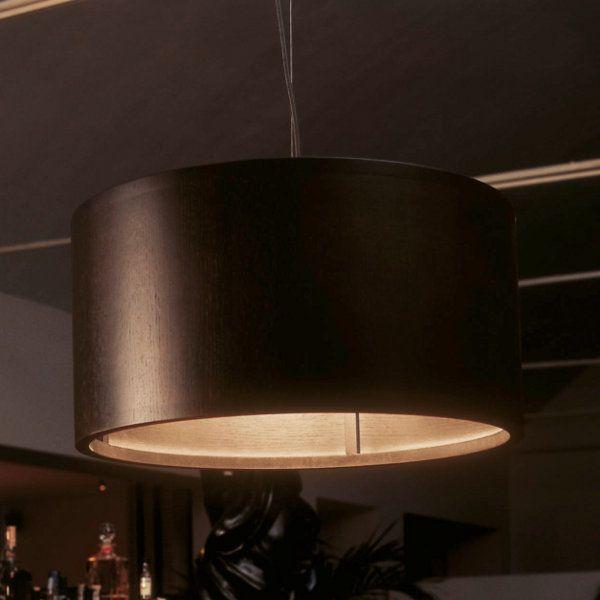 Wood round Pendant light, wenge