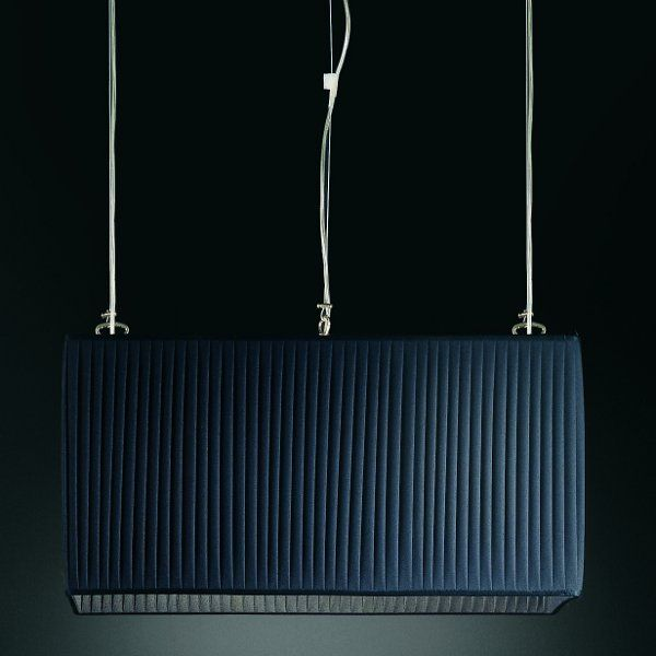 A black Luxury rectangular pendant light