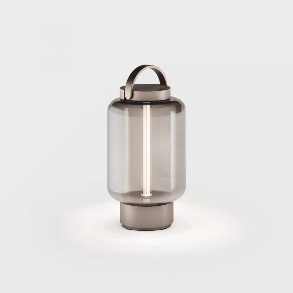 Qu accu lamp, bronze