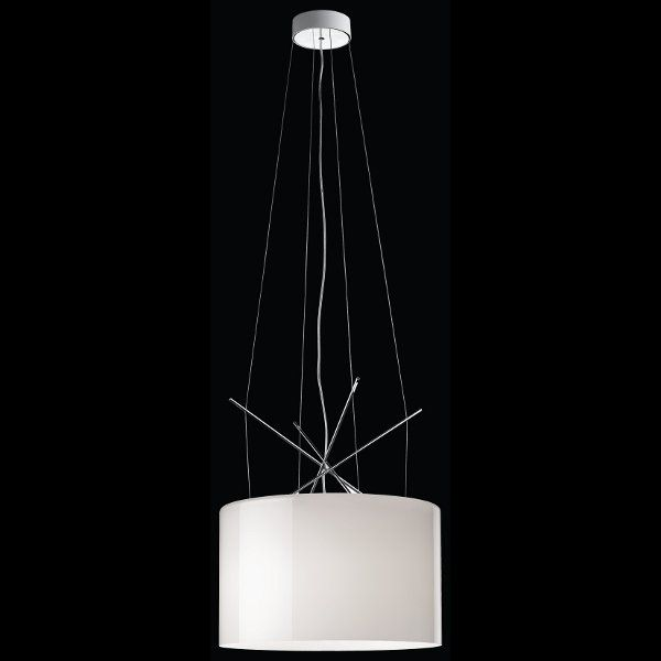 Ray S suspension lamp in white