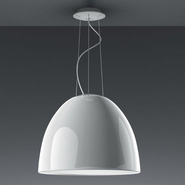 Nur Gloss LED pendant light, white