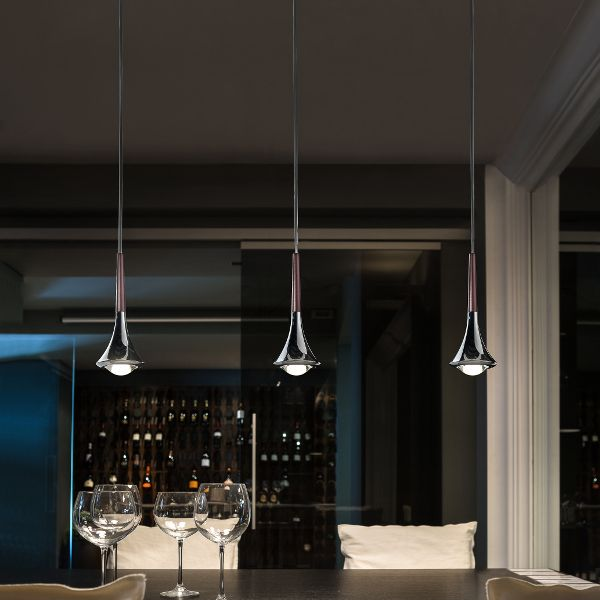 Rain 3 Lights Track Pendant Light