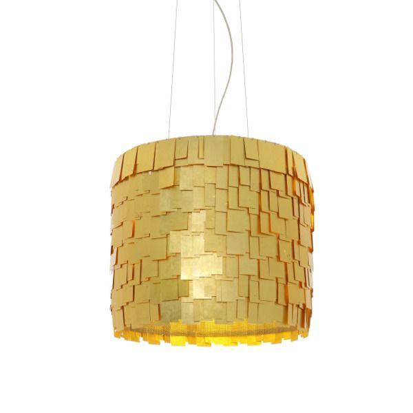 Light Colours suspension lamp, gold leaf