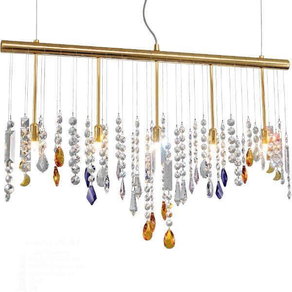 Stretta 5 Pendant light 24K gilded