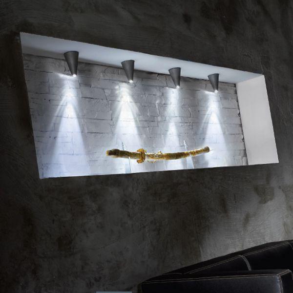 Conus LED Ceiling light in grey