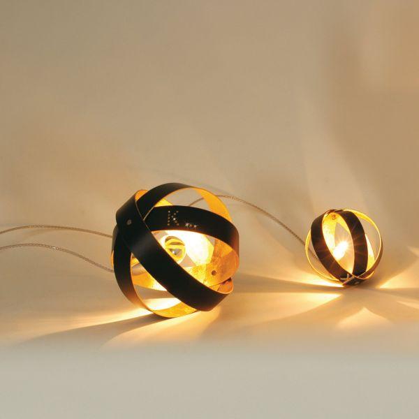 Ecliptika table light outside black / inside gold