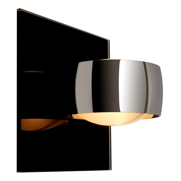 Grace Unlimited LED wall sconce, black / chrome