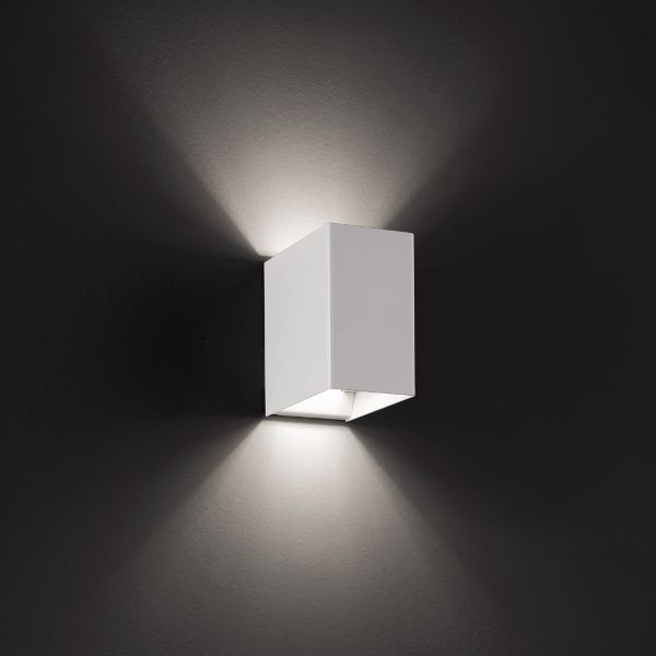 Laser 10x6 Wall sconce white