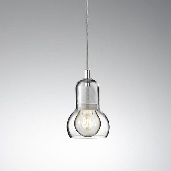 Bulb SR1 pendant light, power cord - transparent