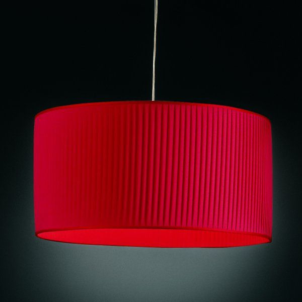 A red Luxury cylinder pendant light