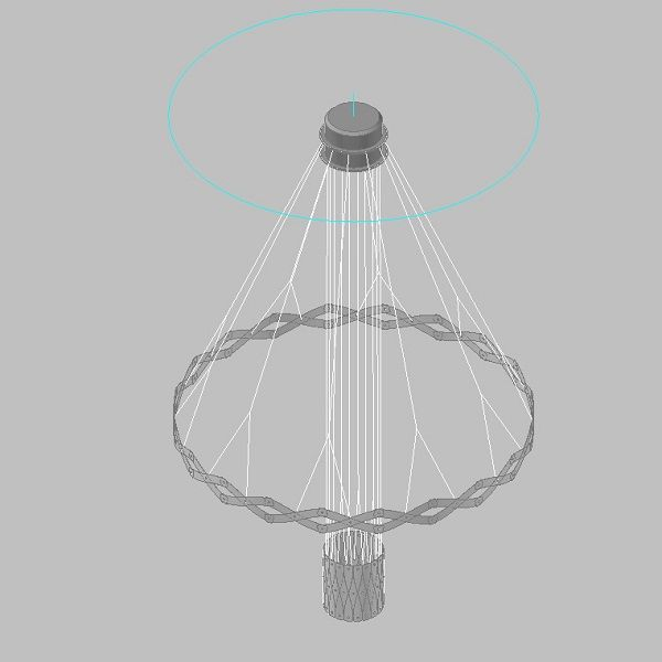 Zoom/Master 2 Elements Pendant light, drawing