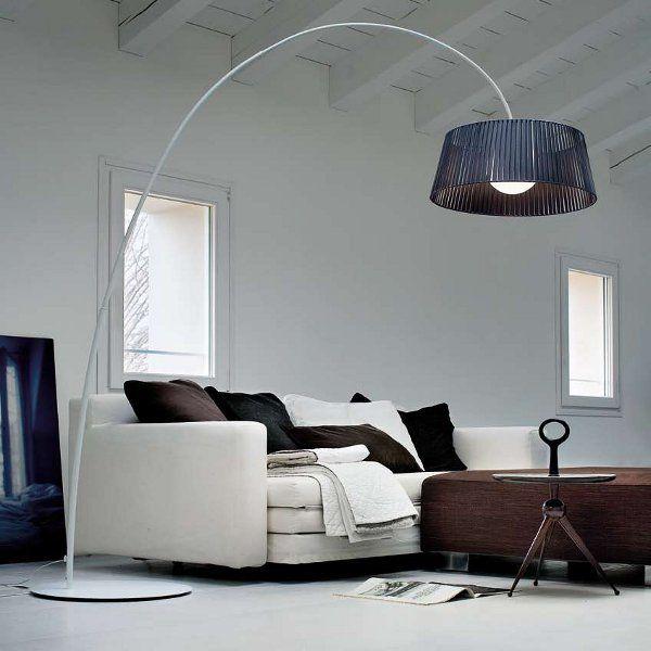 Ribbon TE Floor lamp black, structure white