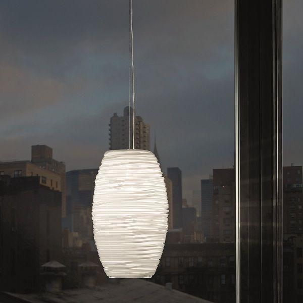 Damasco SP G/D1 Pendant light, crystal white