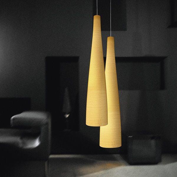 Tite 1 Pendant light, yellow in combination